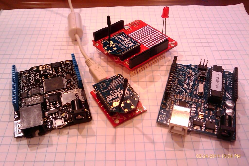 Arduino, Netduino Plus and XBee modems