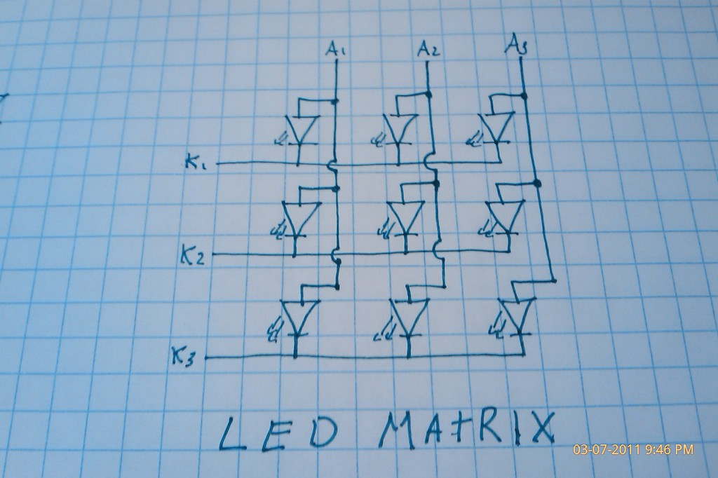 LED Matrix Circuit