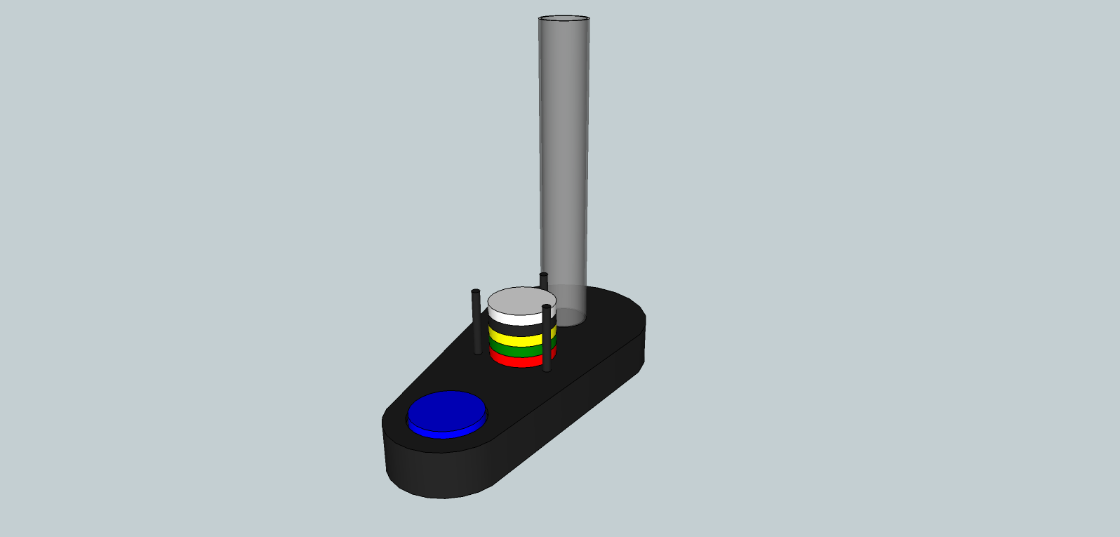 RGB / RFID Lamp Sketchup Drawing