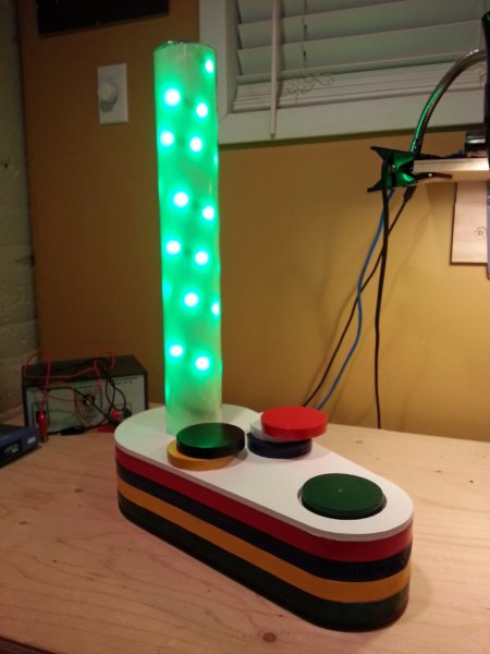 Rgb lamp controlled by rfid tags built as an arduino