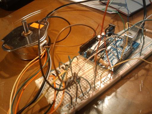 Arduino, Allegro 5804 and stepper motor