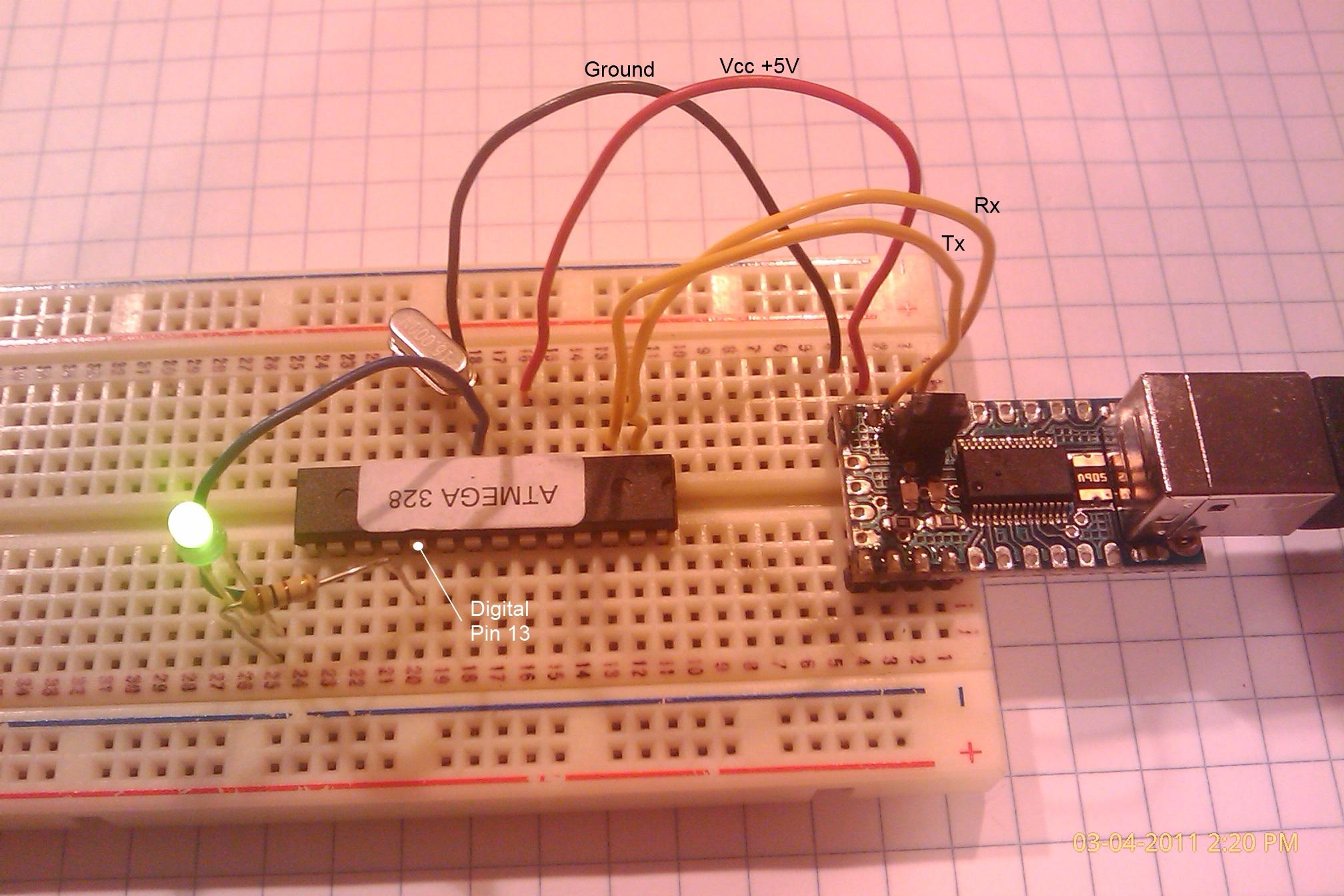 A basic Arduino clone
