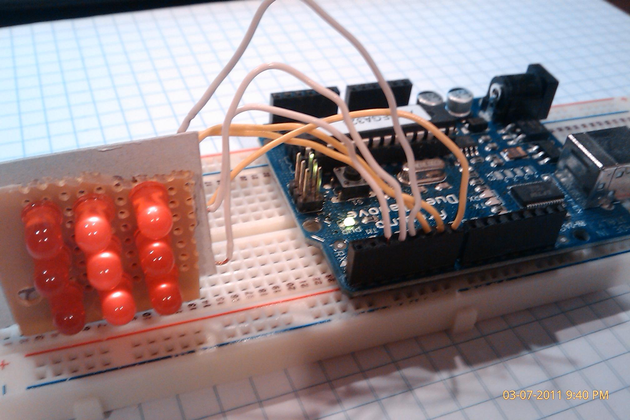 LED Matrix Driven by an Arduino